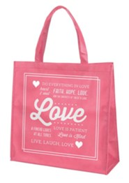 Love Tote Bag, Pink
