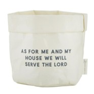 As For Me And My House Reusable Sack, White, Medium