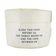 Bless This Food Before Us Reusable Sack, White, Large