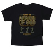 Armor of God Shirt, Black, Toddler 4T