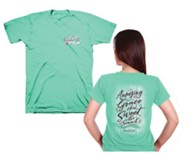 Amazing Grace Shirt, Cool Mint Green, Large