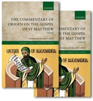The Commentary of Origen on the Gospel of St Matthew