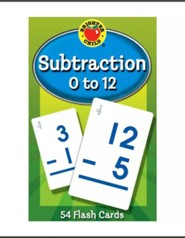 Brighter Child Subtraction 0 to 12 Flash Cards