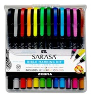 Zebra Sarasa Bible Marking Kit, 12 Pens