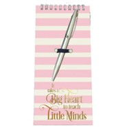 It Takes A Big Heart to Teach Little Minds Notepad and Pen Set