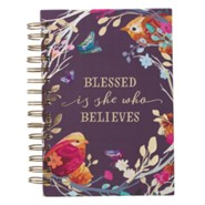 Blessed is She Who Believes, Spiral-bound Journal