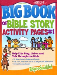 Big Book of Bible Story Activity Pages #1 - Ages 2 to 5