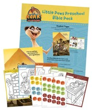 Roar: Little Paws Preschool Bible Pack (50 sheets for 10 kids)