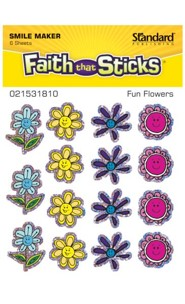 Fun Flowers Stickers, 6 sheets