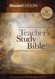 KJV Standard Lesson Teacher's Study Bible - DuoTone,  Brick/Sand