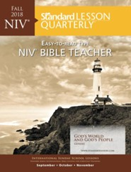 Standard Lesson Quarterly: NIV &#174 Bible Teacher, Fall 2018