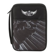 Eagle Wing, Isaiah, 40:31, Bible Cover, Black, Extra Large