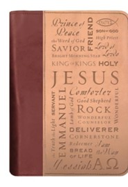 Names of Jesus Italian Duo-Tone Bible Cover, Extra Large