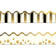 Gold Coins Double-Sided Border