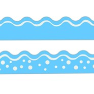 Happy Pool Blue Double-Sided Border