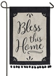 Bless This Home Burlap Flag, Small