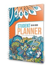 Well-Planned Day Student Planner Dazzling Doodles (July 2019  - June 2020)