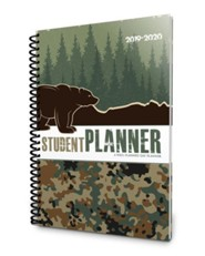 Well-Planned Day Student Planner Camping Camo (July 2019 -  June 2020)