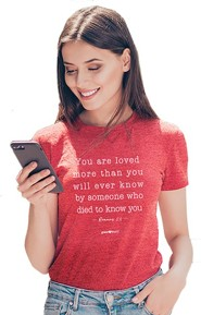 You Are Loved Shirt, Red Heather, Large
