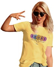 Blessed Daisies Shirt, Yellow Haze, Large
