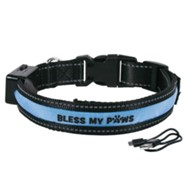 Bless My Paws LED Dog Collar, Blue, Large