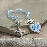 Blue Angel Cameo Catholic Chaplet