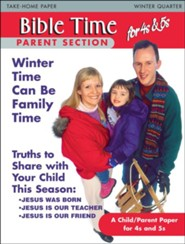 Scripture Press: 4s & 5s Bible Times Take-Home, Winter 2018-19