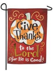 Give Thanks to the Lord Suede Flag, Small