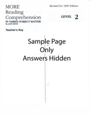 More Reading Comprehension Key Level 2, Grade 10