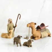 Willow Tree &#174 Nativity, Shepherd and Animals Set