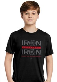 Iron Sharpens Iron, Weights, Shirt, Black, Youth Large