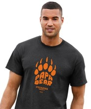 Papa Bear Shirt, Dark Heather Grey, Small