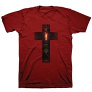 Light Cross Shirt, Cardinal Red, Large , Unisex