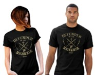 Defender of the Faith Shirt, Black, Medium , Unisex