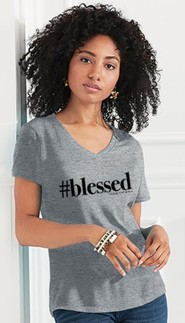 #blessed Shirt, Grey, Small