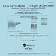 Good News Ahead... The Signs of Christmas Accompaniment CD (Split)