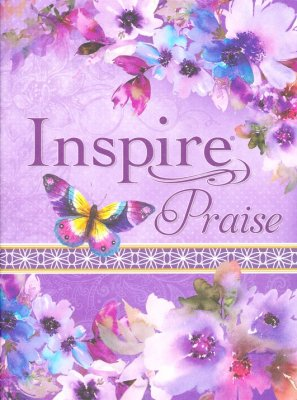 NLT Inspire PRAISE Bible, Purple Imitation Leather with Floral Design  -     By: Christian Art