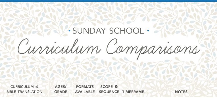 Sunday School Curriculum Chart