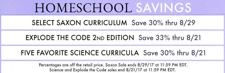 Tried and True Homeschool Sale