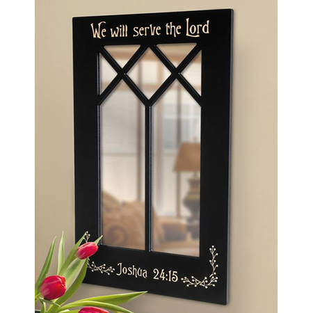 Focal Point Mirror with Scripture