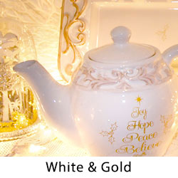 White & Gold Dazzle