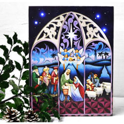 Light-up Nativity Box