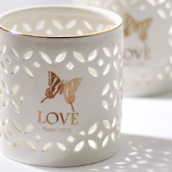 Porcelain Love Votive