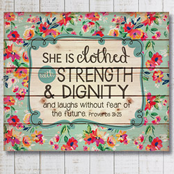 Rustic Proverbs 31 She is Clothed with...