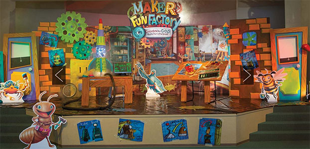 Maker Fun Factory VBS Main Stage Decorations