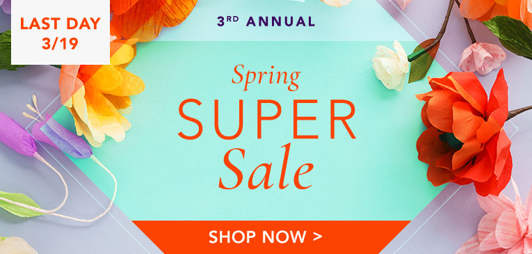 Spring Super Sale Last Day