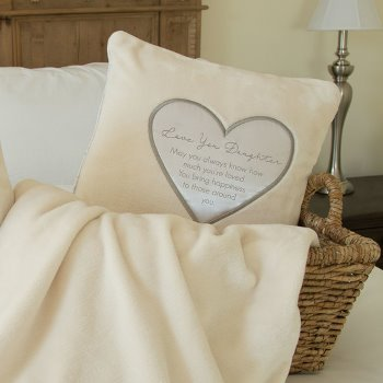 Embroidered Pillow & Throw Sentiments