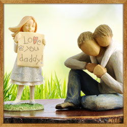 Keepsake figurines for dad