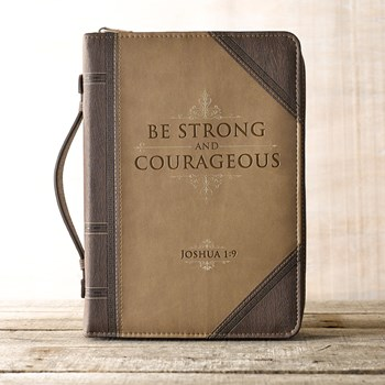 Strong & Courageous Bible Cover