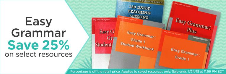 Easy grammar homeschool curriculum christianbook easy grammar sale fandeluxe Images